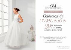 Ya queda menos para presentar nuestra nueva colección de comunión por #oswaldomachin #comunion #comunionlanzarote #girlresses