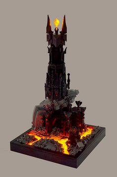 Lego Barad-dûr, Sauron's tower, from Lord of the Rings by Ian Spacek