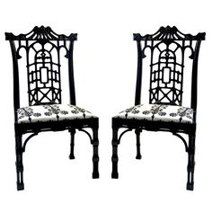 chinese Chippendale chairs