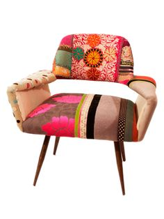 One-of-a-Kind Zsa Zsa Club Chair by nuLOOM at Gilt. home decor, rug, area rug, carpet, pattern, print, design, decor, style, modern, home, house, contemporary, trends, interior design, interiors, sale, discount.