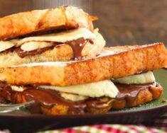 Croque-monsieur brioché chocolat-banane sans beurre : http://www.fourchette-et-bikini.fr/recettes/recettes-minceur/croque-monsieur-brioche-chocolat-banane-sans-beurre.html