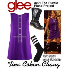 Tina Cohen-Chang (Glee) : You Can't Stop The Beat by aure26 on Polyvore featuring polyvore, fashion, style, clothing and glee