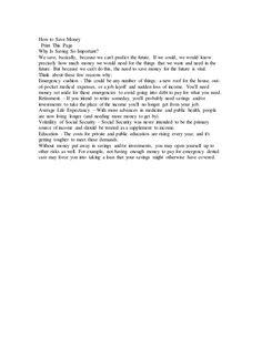 Short Essay On Saving Money - Best opinion