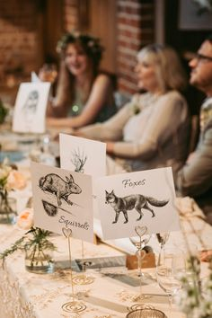 Decor for a Woodland Inspired Barn Wedding. Photography by Alexander Newton