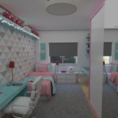 Bedroom Design And Decoration Tips And Ideas - Top Style Decor Room Design Bedroom, Girl Bedroom Designs, Small Room Bedroom, Room Ideas Bedroom, Home Room Design, Bedroom Decor For Teen Girls, Teen Room Decor, Small Room Design, Aesthetic Bedroom