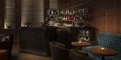 "Punch Room (London Edition Hotel, Fitzrovia, London, UK) : ""This intimate, oak-paneled fixture serves up delicious cocktails and excellent finger food. Restaurant Design, Restaurant Bar, Restaurant Lighting, Restaurant Interiors, Hotel Interiors, Design Hotel, Cocktail Bars London, Classic Cocktails, Scandinavian Design"