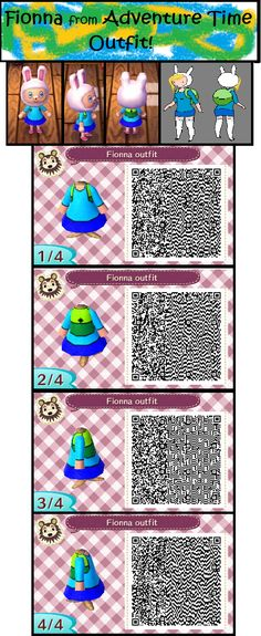 Animal Crossing Designs : Fionna QR code