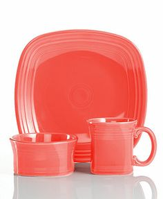 Fiesta Dinnerware Flamingo Square Collection  sc 1 st  Pinterest & i\u0027ve loved fiesta dinnerware since i was a little girl...totally ...