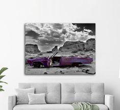 Πίνακας σε καμβά, τελαρωμένος – έτοιμος για τοποθέτηση   Εκτύπωση θέματος με ψηφιακή εκτύπωση σε καμβά 100% βαμβακερό  Τελάρο κουτί 4,5 cm Vintage, Purple, Gallery, Painting, Art, Art Background, Roof Rack, Painting Art, Kunst