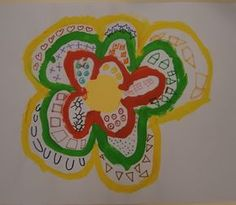 LA CLASE DE MIREN: mis experiencias en el aula: TALLER DE GRAFISMO: FLORES PRIMAVERALES