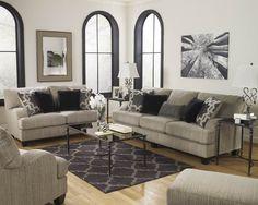Ashley furniture Lanesse Brown/Bronze Metal Glass Coffee Table Set