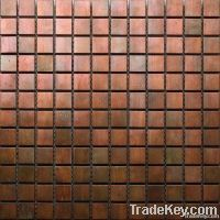 For around the fireplace/on the hearth. Bronze Color Antique Copper Tile, Interior And Exterior Metal Mosaic