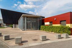"""Auditorium - Péronnas - Exposition """"Prises de vues points de vue : 25 ans d'architecture publique dans l'Ain"""""""