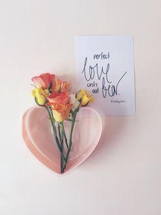lovestar vase + roses + handwritten sentiments = lovely