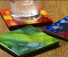 Marker Painted Coasters