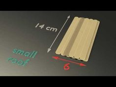 Popsicle house instructions, Part 4 - The Roof (small) - YouTube