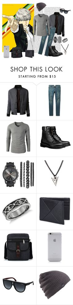 """Seta // Fashionized"" by fivetails ❤ liked on Polyvore featuring Oris, LE3NO, Acne Studios, Brianna Lamar, Coach, Native Union, Carrera, Burton, men's fashion and menswear"