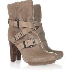 DKNY Sandra buckled leather boots