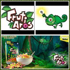 Rediseño de cereal y creación de personaje Fruti-Aros