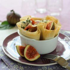 Découvrez la recette Briks croustillants de figues au roquefort sur cuisineactuelle.fr.