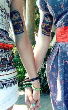 tattoo matrioska matching - Pesquisa Google