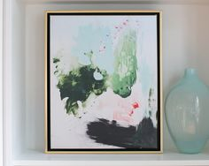 Peppermint Moss Abstract Canvas by @lindsay_letters