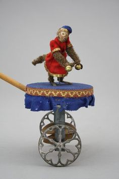 The Missing Link on Platform. c1875 scarce,only 3 or 4 known examples of this toy