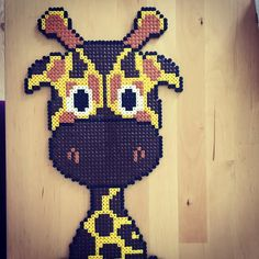 Giraffe hama beads by kallermann