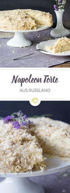 In Russland zählt diese Torte zu den beliebtesten Desserts. Kein Wunder - mehrere Lagen aus fluffigem Blätterteig und köstlicher Buttercreme machen sie einfach unwiderstehlich.