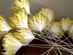 Indigenous Paper proteas handcrafted and painted to order from recycled papers