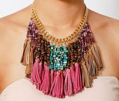 SALE Summer Necklace Colorful Necklace Beaded by ChandraJewelry, $50.00