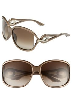 Dior 'Volute Strass' 61mm Oversized Sunglasses available at #Nordstrom