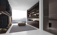 Walk-in closet with a view. Dear God, can I have this amazing closet? Ugh.....gorgeous!