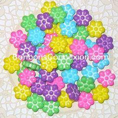 Easter sugar daisies - Marguerites de Pâques  #bonbonspaques #eastercandy