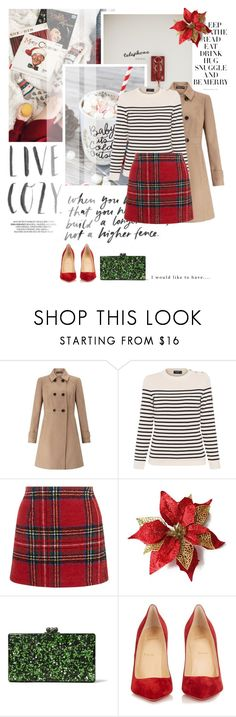 """""""It's Christmas Eve!"""" by mutsam17 ❤ liked on Polyvore featuring Trouvaille, Miss Selfridge, Saint James, New Look, Edie Parker and Christian Louboutin"""