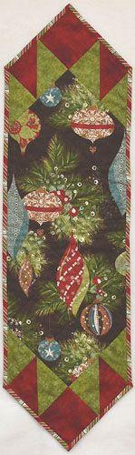 Centerfold Christmas Table Runner - Brown
