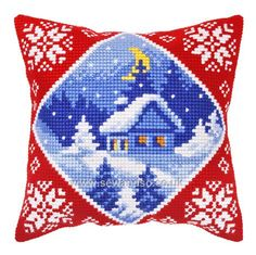 Shop online for Cottage in Winter Cushion Front Chunky Cross Stitch Kit at sewandso.co.uk. Browse our great range of cross stitch and needlecraft products, in stock, with great prices and fast delivery.