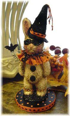 Halloween Bunny Rabbit by Nancy Malay