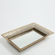 Decorative Tray Endearing John Richard Large Silver Mirrored Decorative Tray  Accessories Review