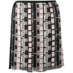 Christopher Esber Navajo Mini Skirt (€305) ❤ liked on Polyvore featuring skirts, mini skirts, black, navajo skirt, christopher esber, short skirts, short mini skirts and mini skirt