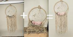DIY Dream Catcher Newborn Prop | Composite | Newborn Prop | DIY | Dream catcher | © Paige Laro Photography | Studio Photography | Newborn Girl | Burlap |