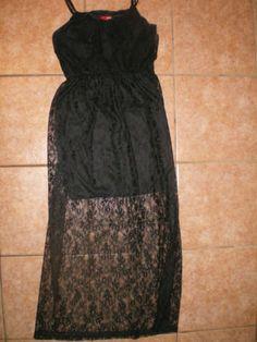 Bongo NWOT crochet maxi dress black