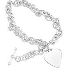 Cable Bracelet W/toggle & Heart http://www.dominicsfinejewelry.com