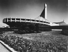 Part of the outstanding 1964 Tokyo Olympic complex. Yoyogi National Gymnasium by Kenzo Tange.