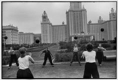 SOVIET UNION. Moscow. 1954. Moscow State University main building. by Henri Cartier-Bresson