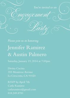 Engagement Party Invitation - 'Always & Forever' by Kleinfeld Paper