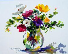 FLORAL Original Watercolor Painting