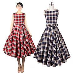 Y&Z Women's Vintage Round Sleeveless Dresses (Cotton Blend) – USD $ 24.99