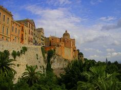 Il Castello, Cagliari (Italy). 'Perched on a rocky peak, Cagliari's Il Castello is never more captivating than at dusk on a warm summer's evening.