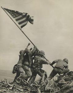 Iwo Jima Flag Raisers, Rene Gagnon, Joe Rosenthal, Battle Of Iwo Jima, Today In History, American Soldiers, American Flag, American Veterans, Us Marines